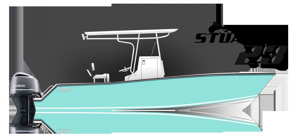 The Stuart 23 Boat illustration